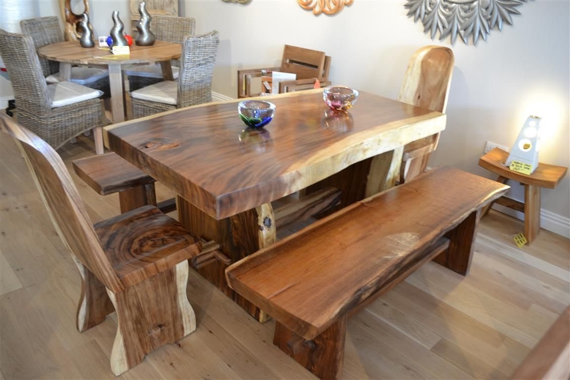 chunky solid oak dining table go to for