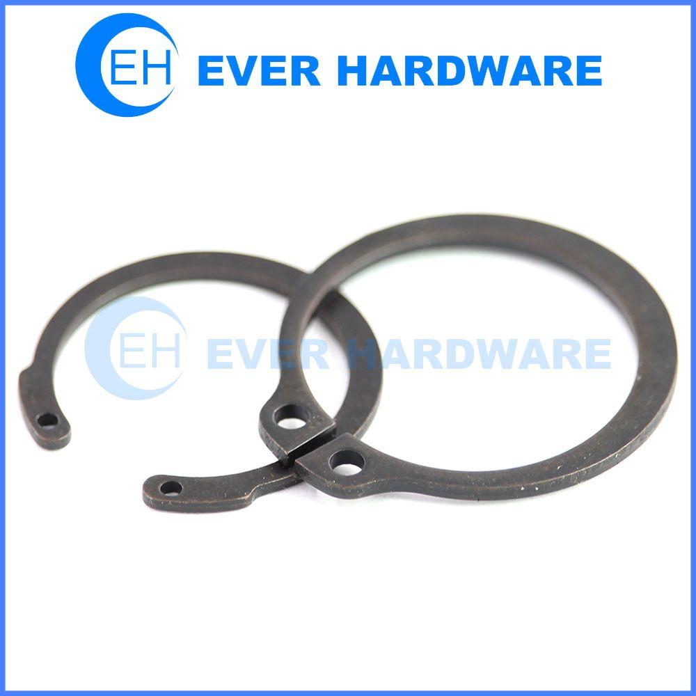 Snap ring high tensile external retaining washer black lock ring ...