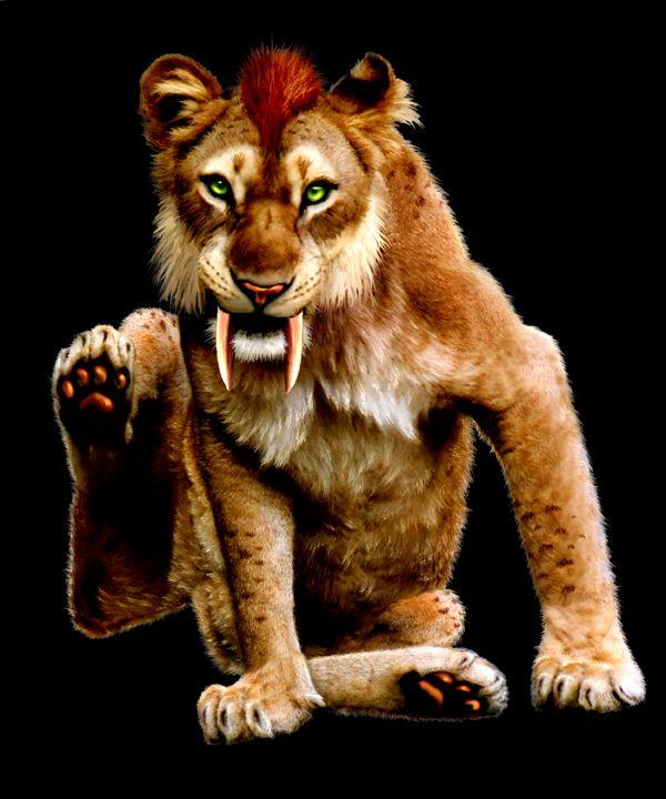 Dinah The Smilodon By Arnatornwolf On Deviantart Smilodon Prehistoric Animals Sabertooth Tiger