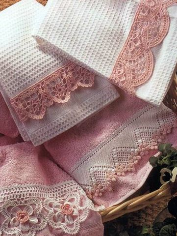 Оформление полотенца. Обвязка #dollies