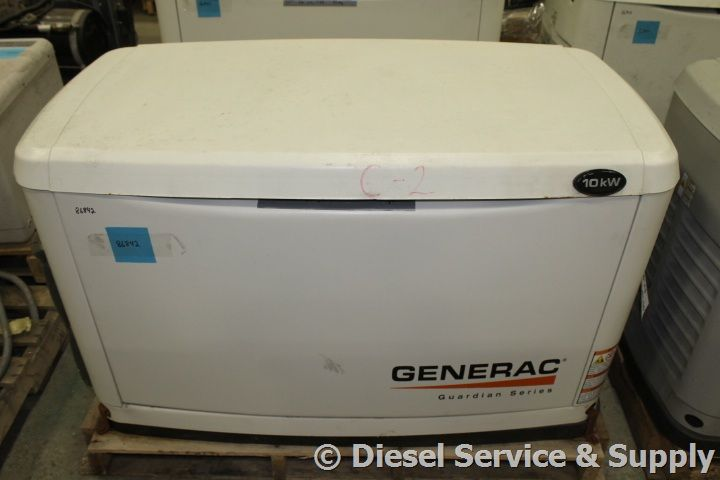 Available Generac 10 Kw Standby Natural Gas Liquid Propane Generator Model 0058831 Year 2012 96 9 Hours 240 V Propane Generator Dry Pack Gas Generator
