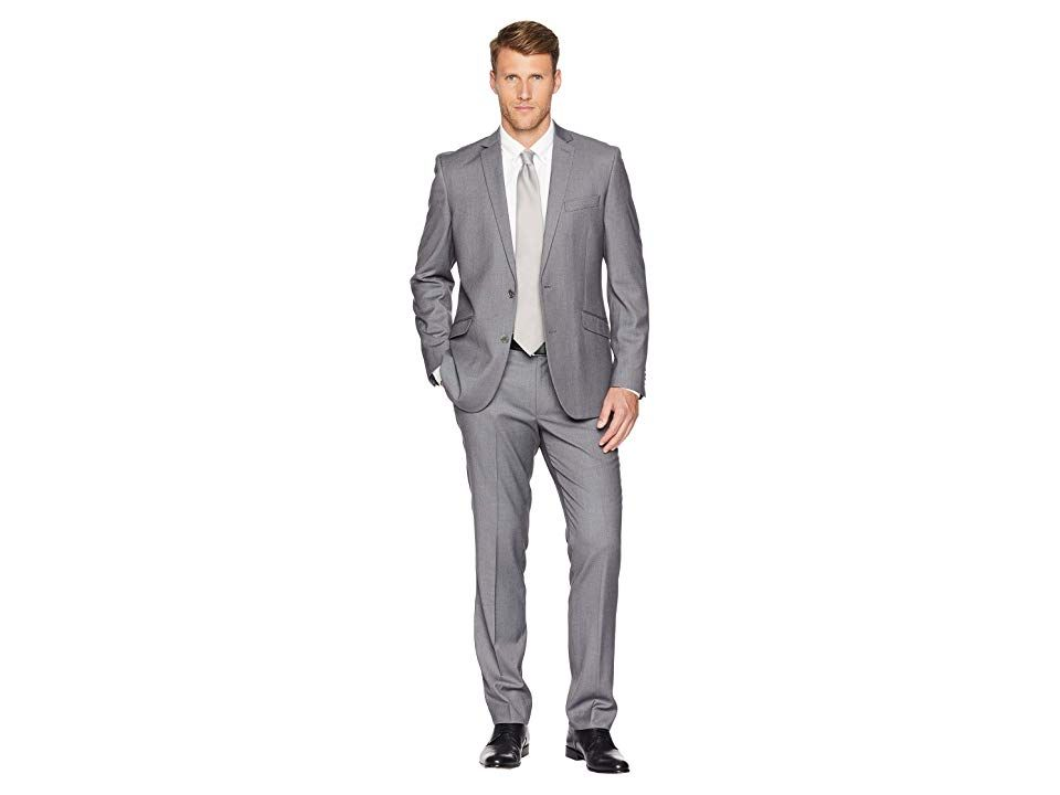 Kenneth Cole REACTION Mens Skiiny Fit Stretch Finished Bottom Suits Business Suit Pants Set