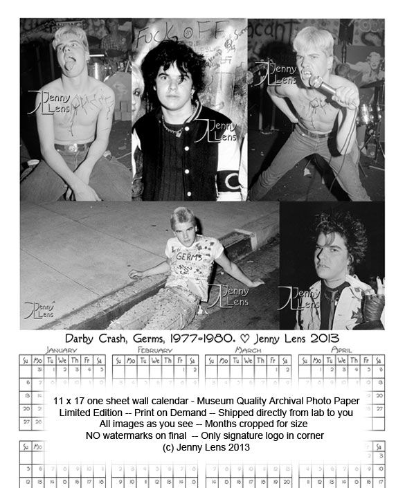 Germs, Darby Crash, 1977-80 (black/white)
