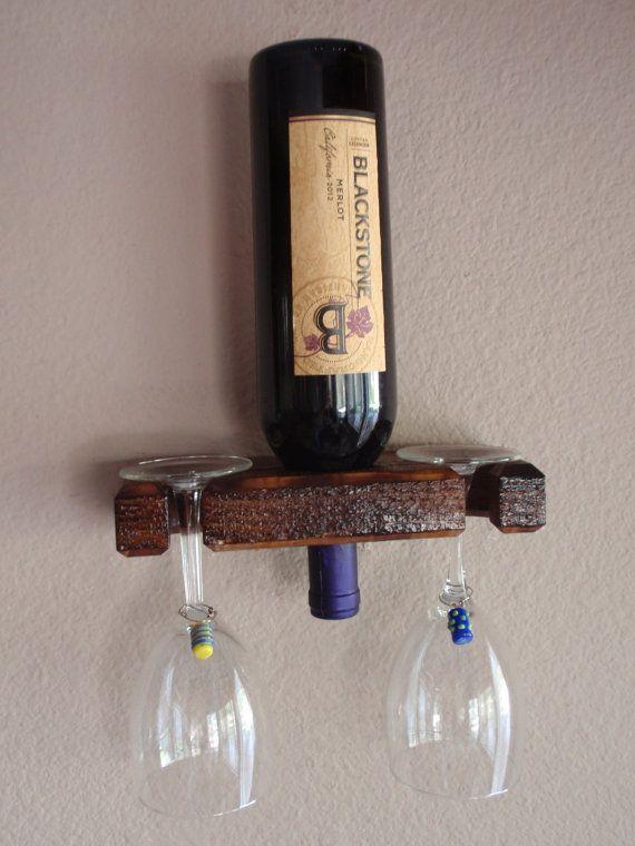 Single Bottle Wall Mount Wine Rack Display By Adlitecreations Up
