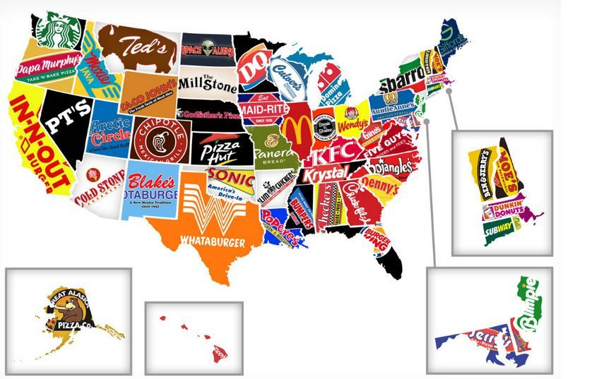 Chains Such As McDonalds Panera Bread Chipotle White Castle - Maps of us mcdonals locations