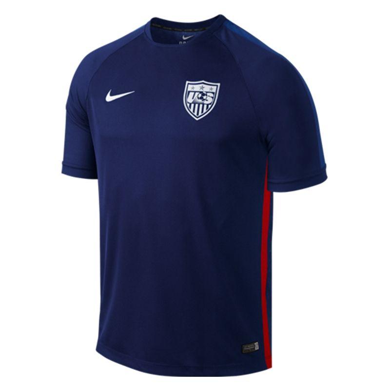 $54.99 Add to Cart for Price | Nike USA Replica | Nike USA Squad Training  Top (Loyal Blue/Game Royal/White) | 643866-421| SOCCERCORNER.com