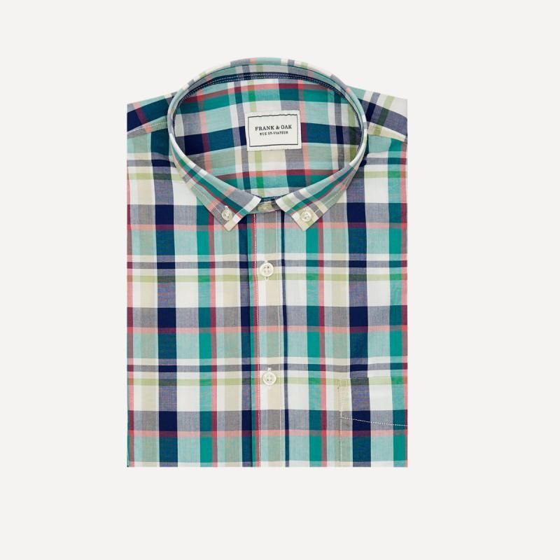 Summer Plaid Shirt in Blue | Frank & Oak