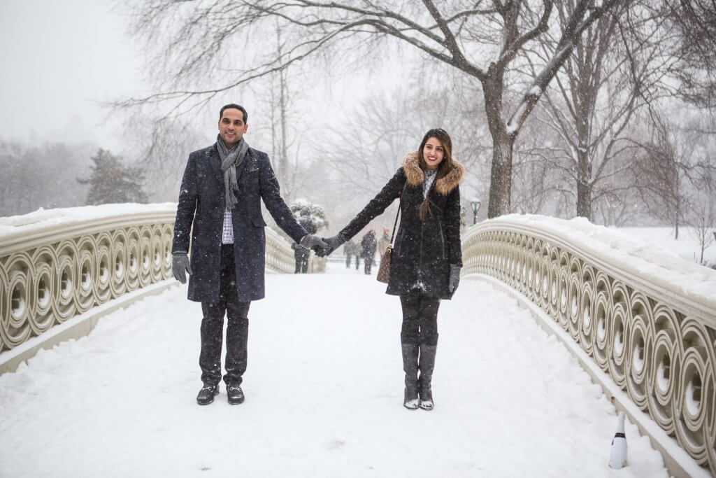 Central Park Snowy Day And Our Great Couple New York Proposal