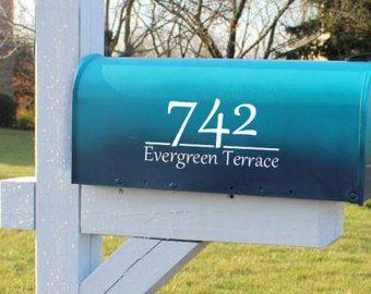 Mailbox Numbers Letter Decals Mailbox Decals Vinyl Mailbox