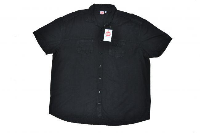 Leinenhemd von HONEYMOON!  In schwarz für das kommende Frühjahr, edles Material, Baumwolle/Leinen Mischung, top modisches Taschen-Design.  Lieferbar von 4xl - 15xl  Material: 51% Leinen-49% Baumwolle