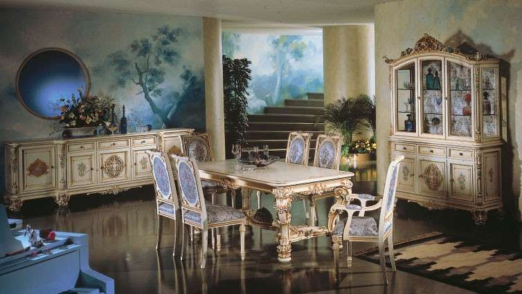Sala da pranzo stile veneziano sala da pranzo dal gusto ricercato veneziano sala da pranzo - Sala da pranzo stile barocco ...