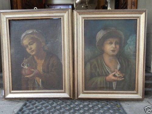 Coppia-ritratti-olio-su-tela-bambini-scuola-lombarda-Todeschini-600