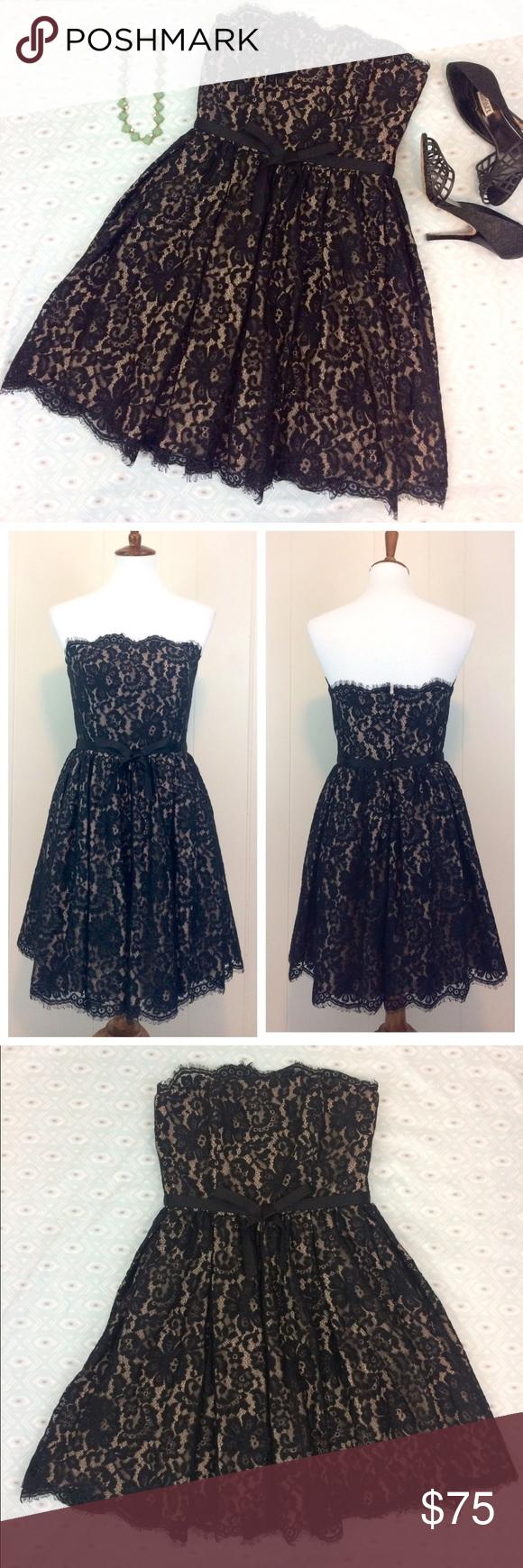 Black dress neiman marcus - Neiman Marcus Robert Rodriguez Lace Party Dress Nwt
