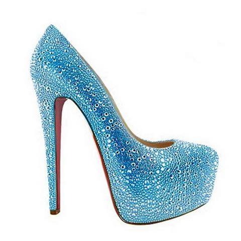 Cheap Louboutin Shoes Daffodile 160mm Aurora Boreale Pumps Blue