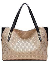 BOYATU Leder Handtaschen für Damenmode Damen Totes Große