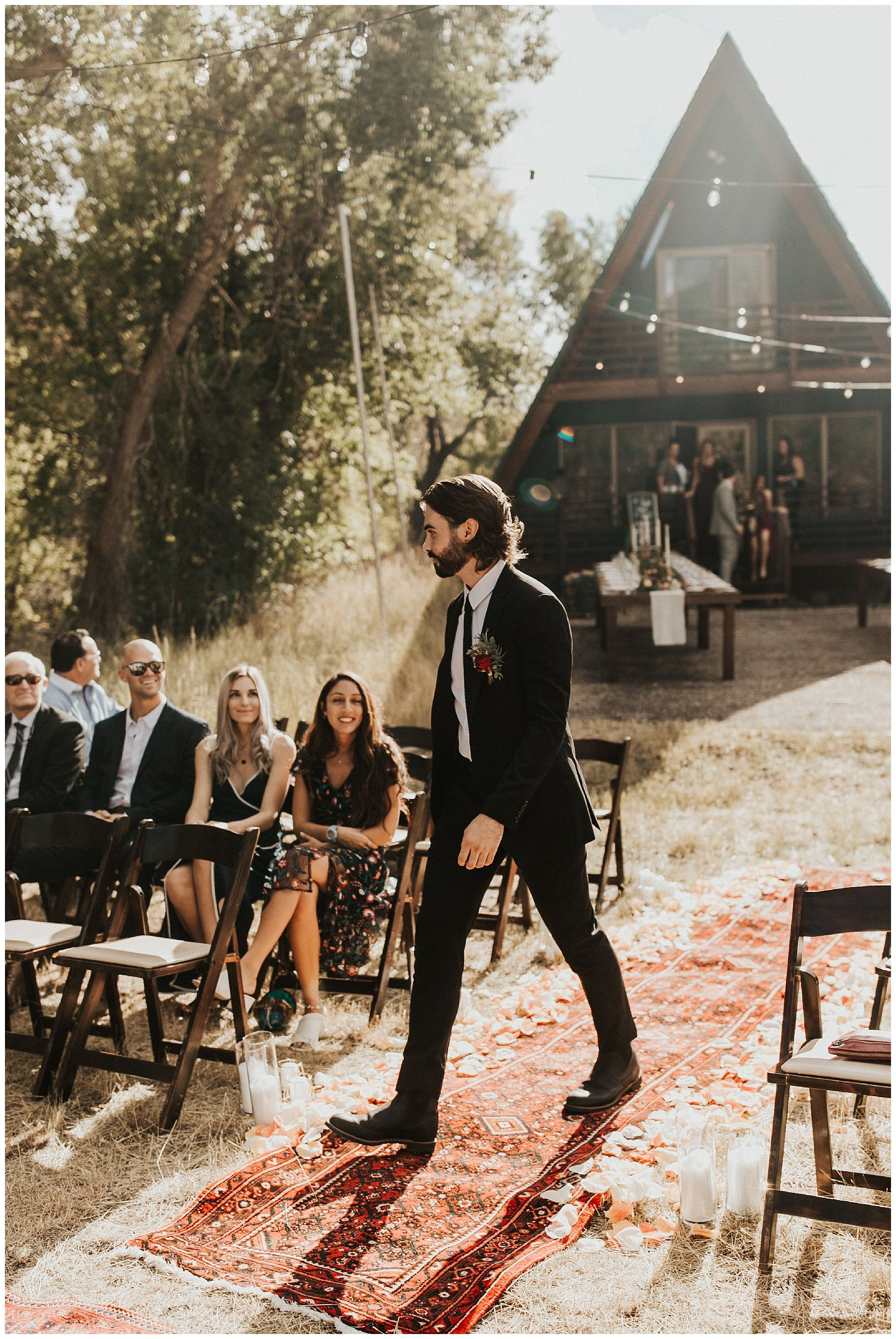 Photo of Intimate A-Frame Wedding in the Utah Mountains | Autumn Nicole Photography
