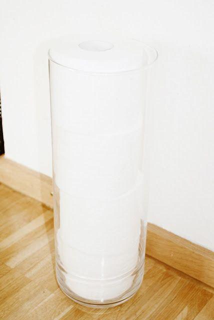 Iby Lippold Haushaltstipps : Toilettenpapier-Behälter. Aufbewahrung im Bad