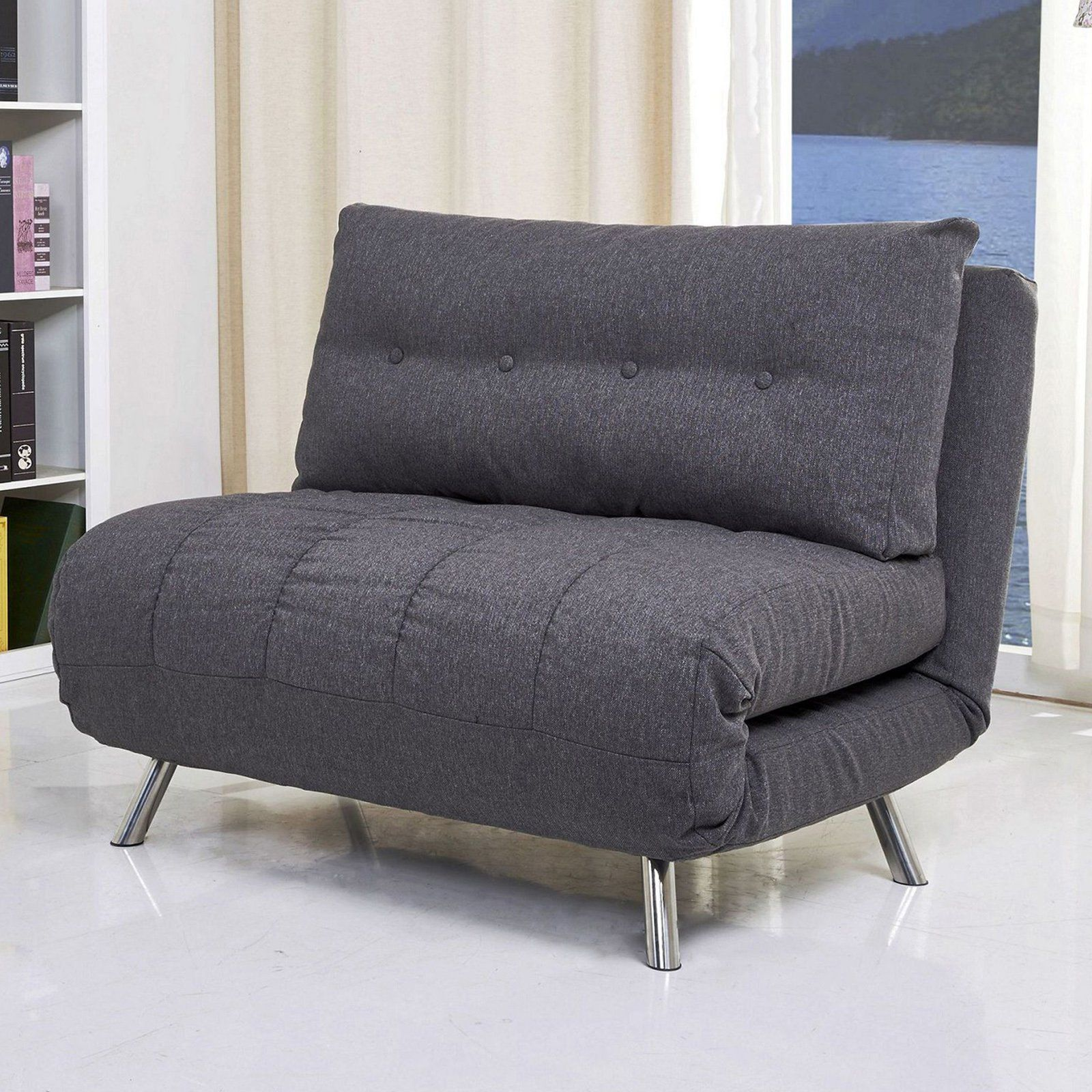 Swell Gold Sparrow Tampa Fabric Convertible Big Chair Bed Gray In Ocoug Best Dining Table And Chair Ideas Images Ocougorg