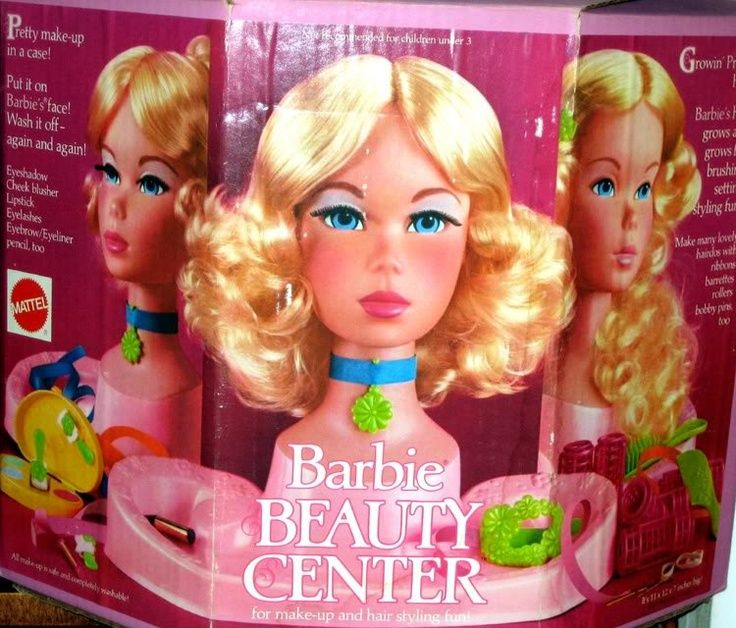 Vintage Barbie Styling Head Beauty Center Loved Her Especially Putting On The Make Up And Choker Barbie Styling Head Childhood Toys Barbie