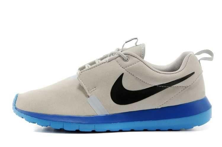 Mens nike roshe run anti fur 3m reflective grey blue