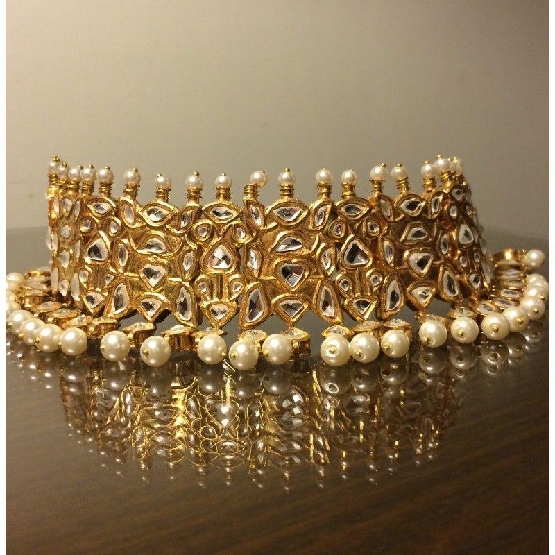 Kundan Pearl Chokar Jewelry Indian Wedding Jewelry