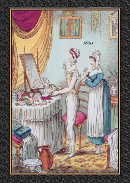 Regency Servants: Valet and Lady's Maid, via Austen Authors. 1810 toilette copy