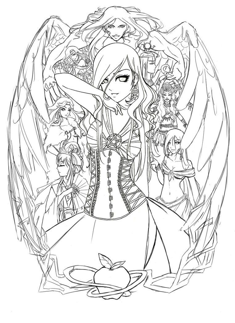 Lineart Lilith by saalenn on DeviantArt   Fairy coloring ...
