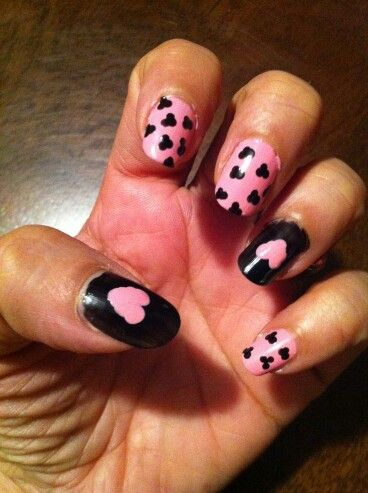 Pink and black hearts