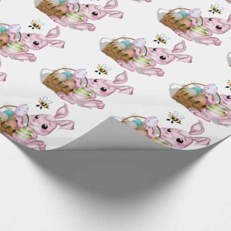 Easter gift wrapbunny with basket with eggs wrapping paper easter gift wrapbunny with basket with eggs wrapping paper easter crafting negle Image collections