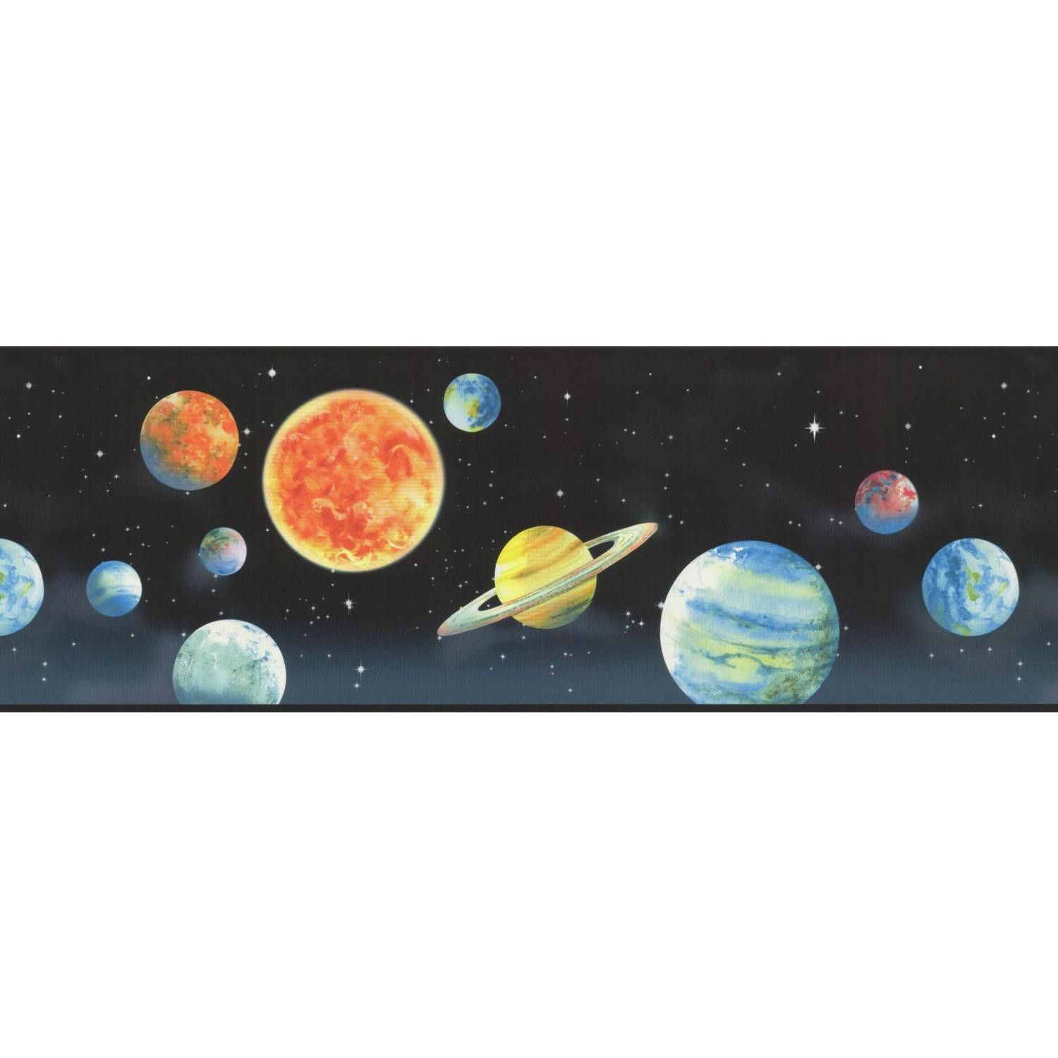 Portfolio Ii Planets 15 X 9 Scenic Border Wallpaper Wall