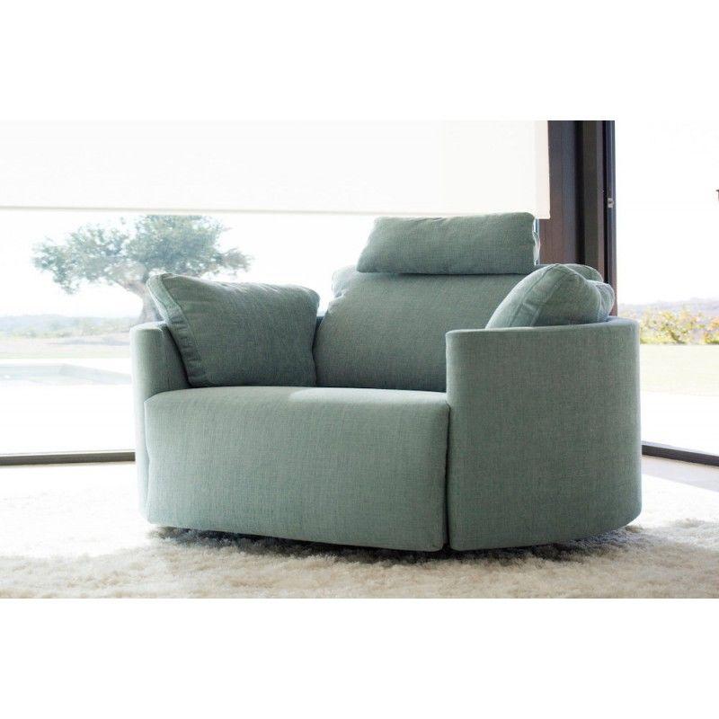 Fama Moonrise Recliner Chair Green Velvet Chair Recliner Chair