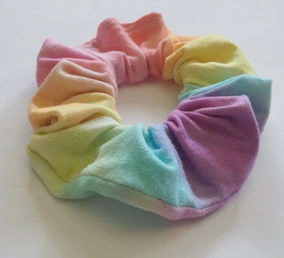 Pastel Rainbow Tie Dye Scrunchie - handmade rainbow ...