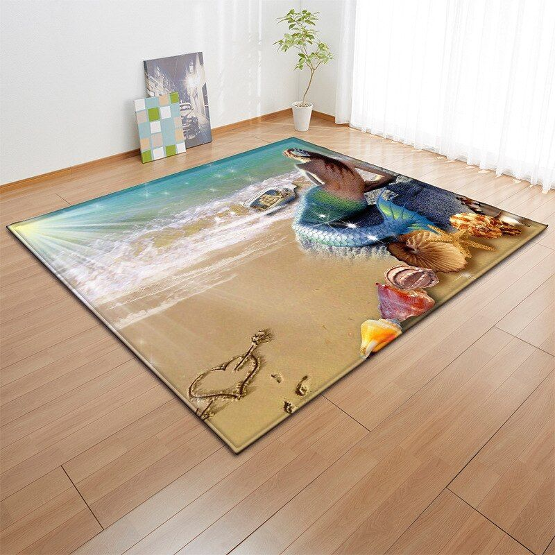 3d Non Slip Mermaid Rug Carpet Unilovers Rugs On Carpet Home Rugs Decor