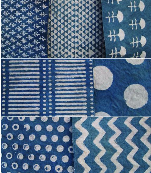 block prints in blues patten textures pinterest bleu indigo et tissu. Black Bedroom Furniture Sets. Home Design Ideas