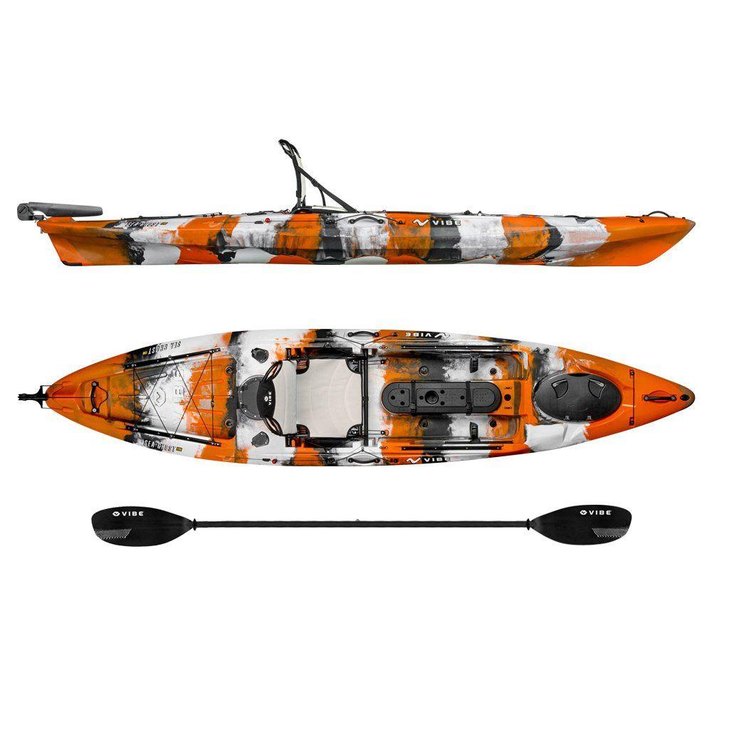 Canoe Camping Gear Vibe Kayaks Sea Ghost 130 13ft Angler Single