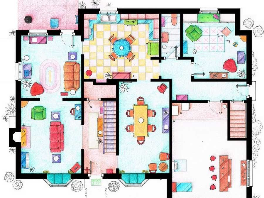 Iñaki Aliste Lizarralde - Famous houses floorplan Mix it up - new interior blueprint maker