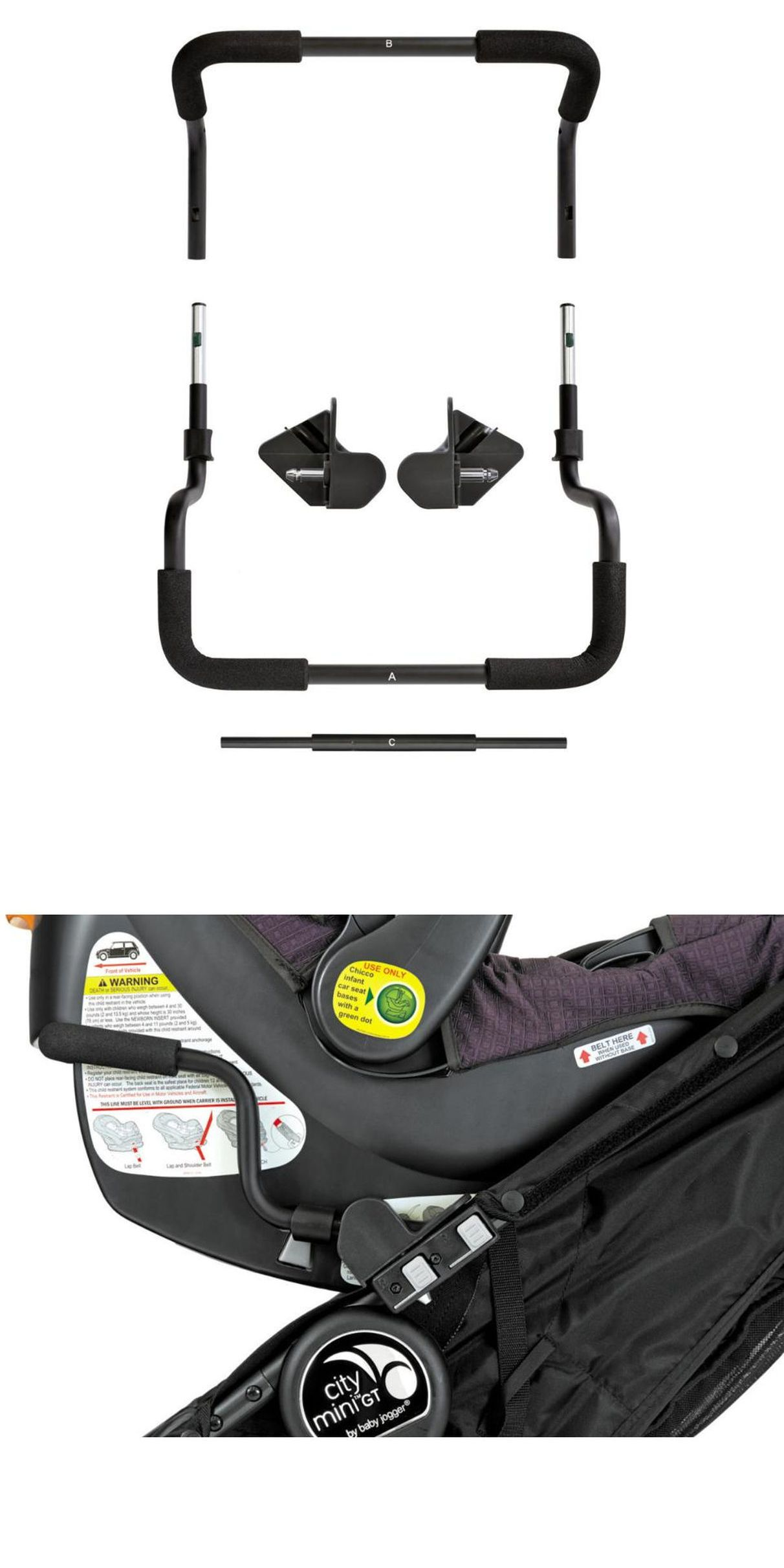 Other Stroller Accessories 180917 Baby Jogger Single Mounting Bracket Car Seat Adapter For Chicco Peg Perego BUY IT NOW ONLY 1388 On EBay