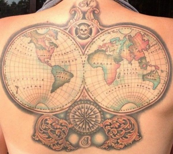 World map tattoo design ins pinterest map tattoos tattoo tattoo world map tattoo design gumiabroncs Images
