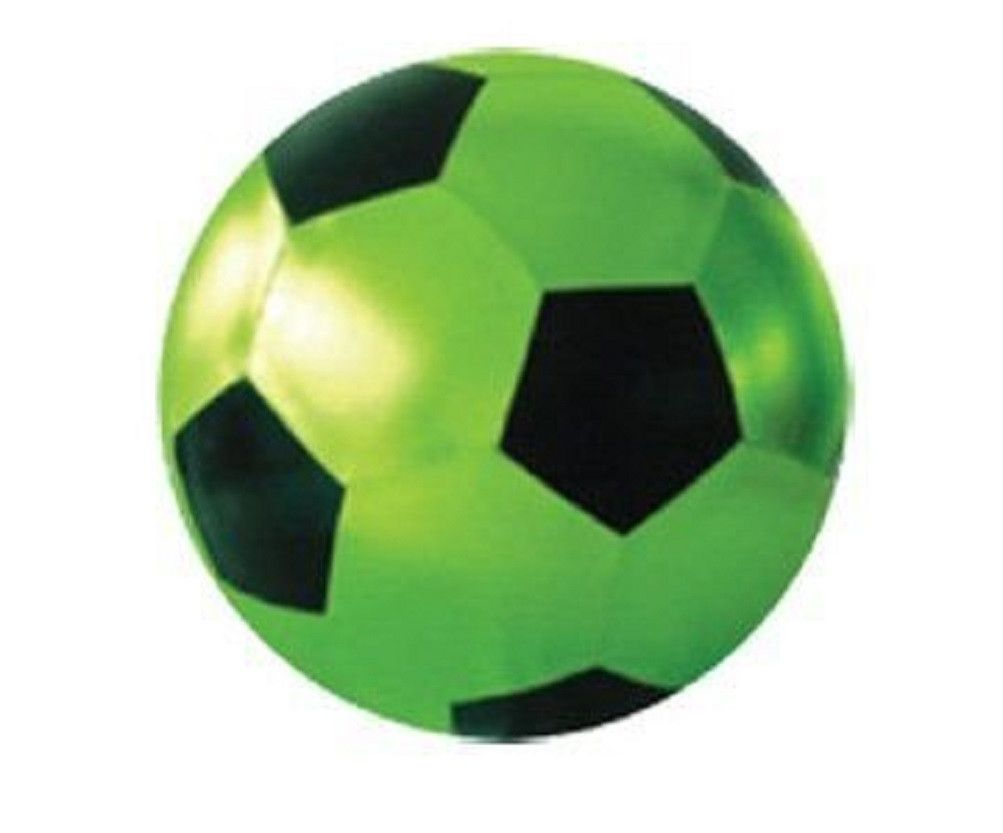 Y All Ball 32 Inch Waterproof Inflatable Neon Green Black Soccer Pattern Neon Green Soccer Green Black S