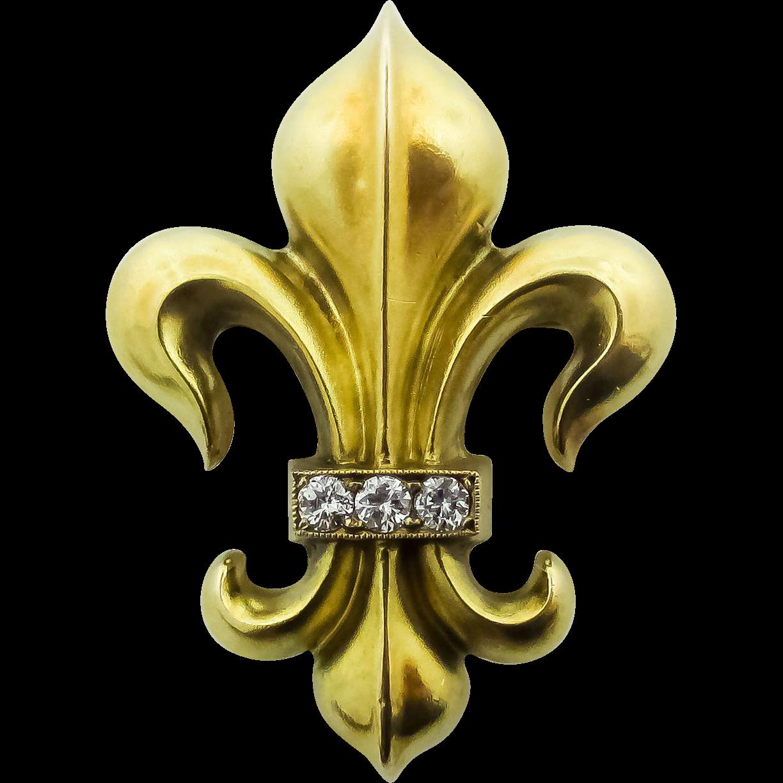 14 kt. fleur-de- lis, pin, c.1900. | Tryzub-Trident-Trinity ...