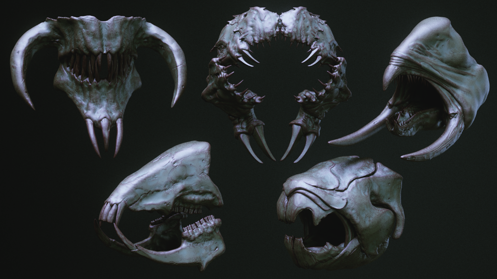 Jaws 33 Monster Mouths Imm Brush Pack On Cubebrush Co Monster Mouth Creature Feature Monster