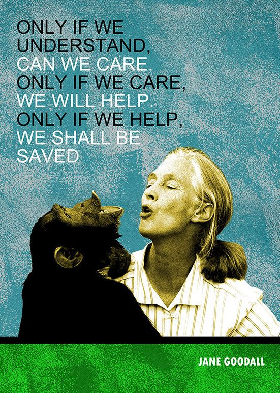 Jane Goodall Inspirational Quote Printable Instant by ...