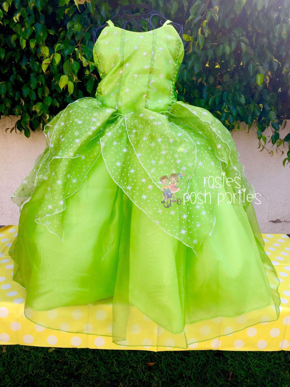 Vestido De Hadas De Tinkerbell Para Disfraz Por Rosiesposhparties