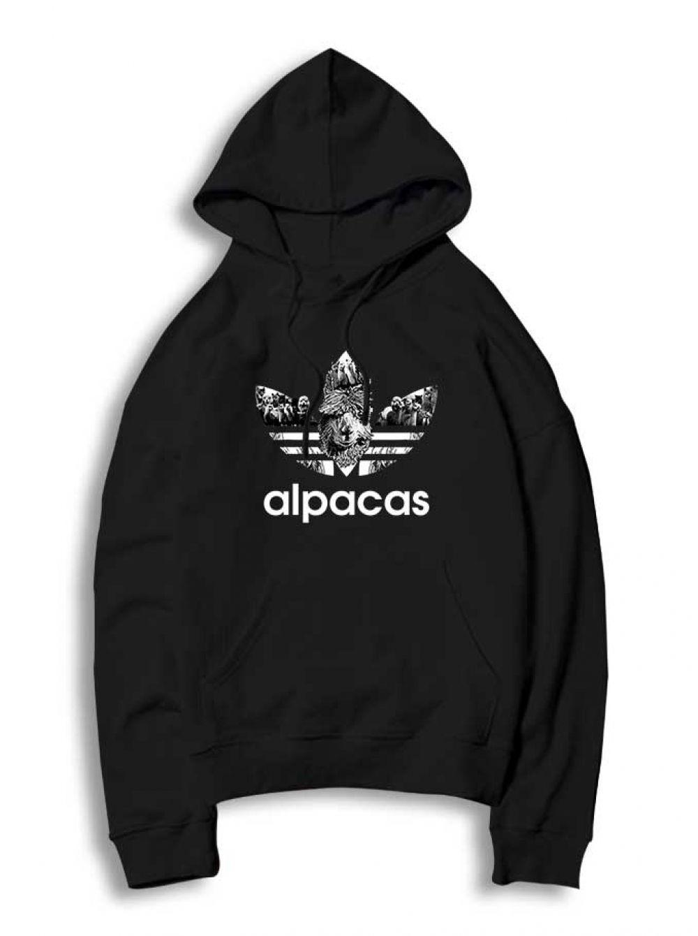 Adidas Parody Alpacas Hoodie For Women S Or Men S Hoodies Fall Hoodies Hoodie Streetwear [ 1340 x 1000 Pixel ]