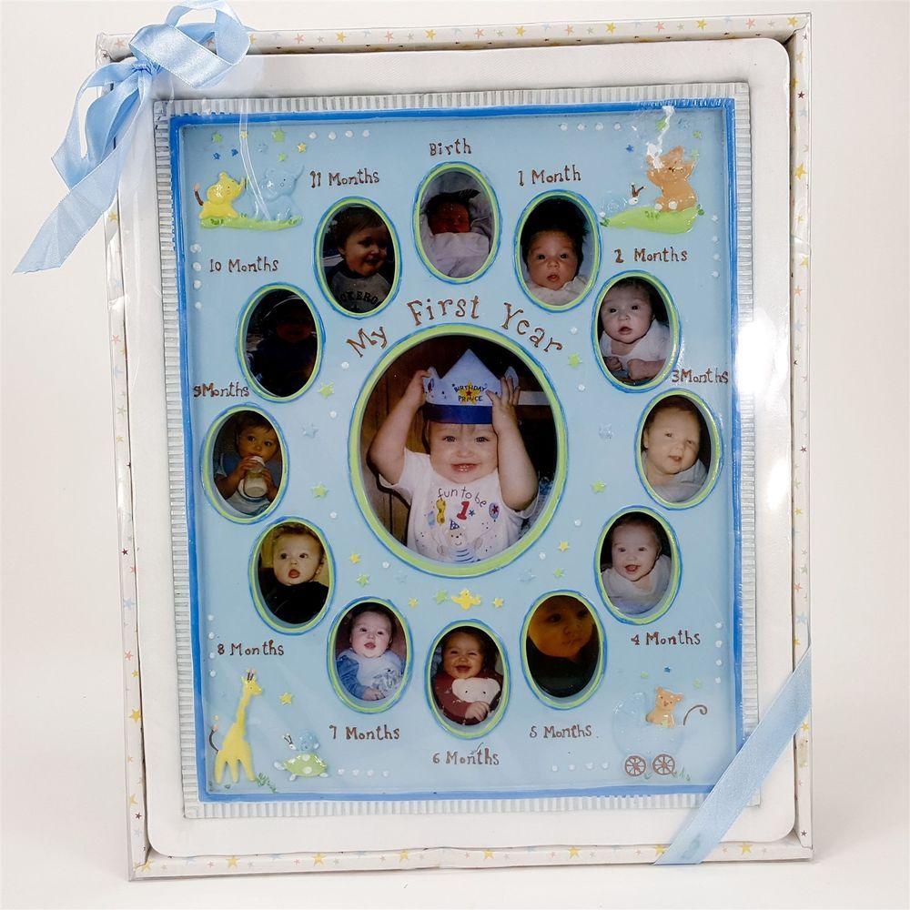 Year Baby 12 Month Boy Blue 12x10