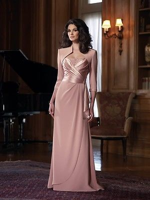 Free Jacket&Long Mother Of The Bride Dress Evening Gown Bridesmaid Dress Custom