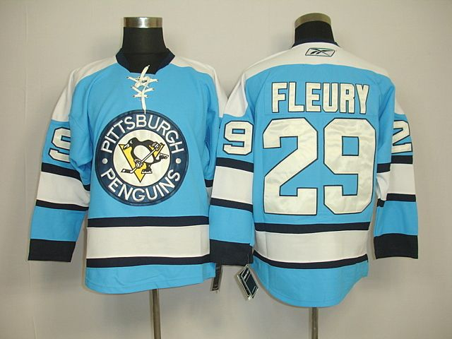 superior quality 75df0 01e9a Pittsburgh Penguins 29 Marc-Andre FLEURY Third Jersey Light ...