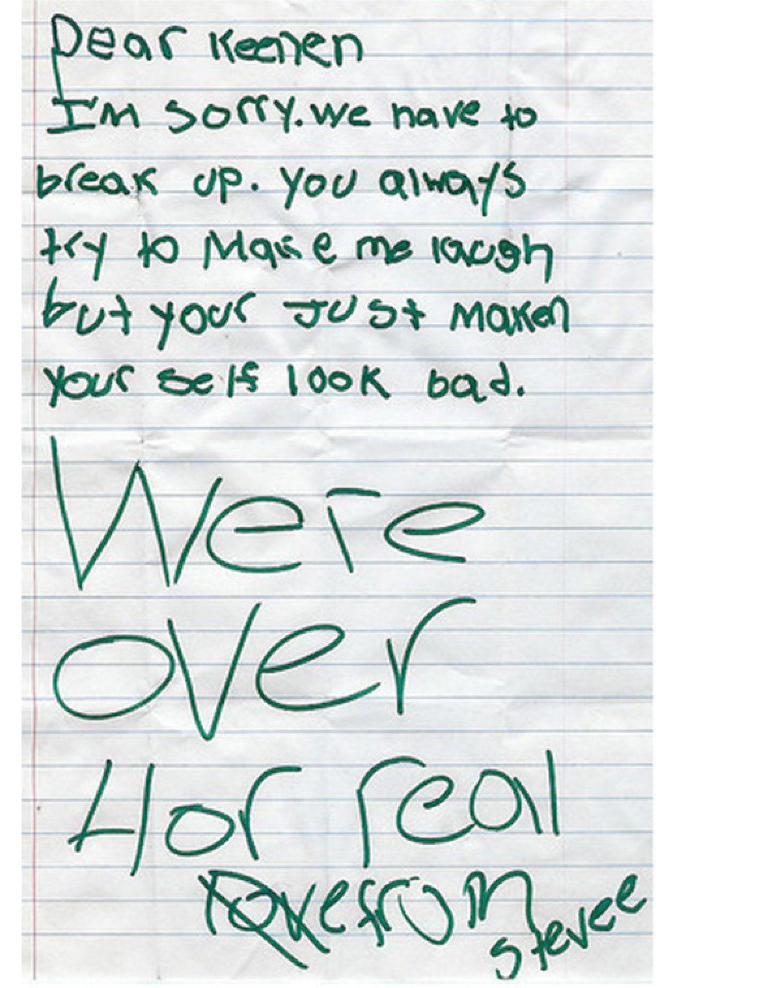 Brutally Honest Breakup Notes Written By Kids  Brutally Honest