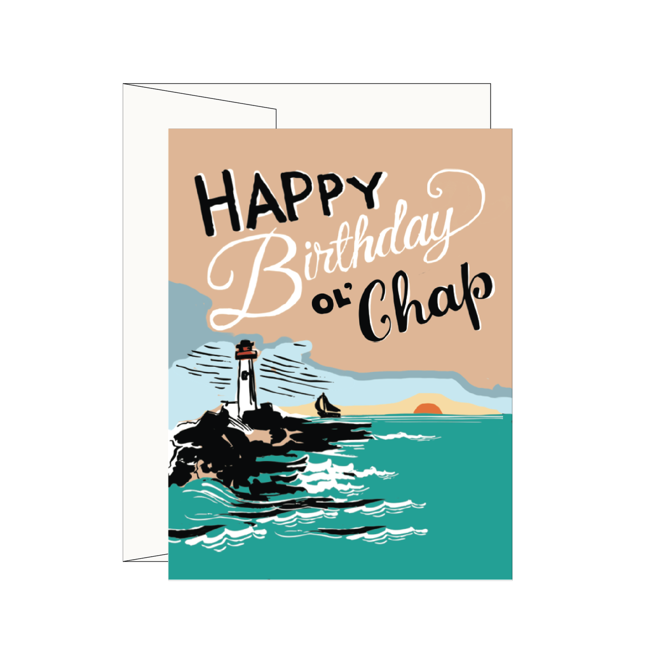 Lighthouse happy birthday greeting card happy birthday greeting card lighthouse happy birthday greeting card kristyandbryce Choice Image