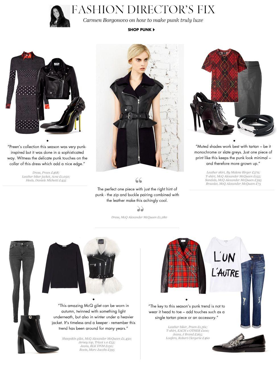 Fashion directorus fix the punk trend web design pinterest